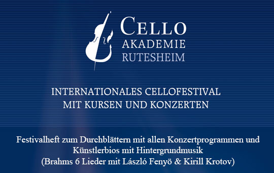 Festivalheft Cello Akademie Rutesheim 2013